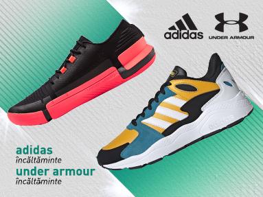 Incaltaminte Adidas si Under Armour
