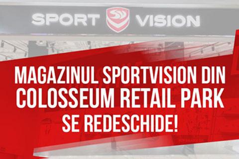 Magazinul SportVision din Colosseum Retail Park se redeschide!