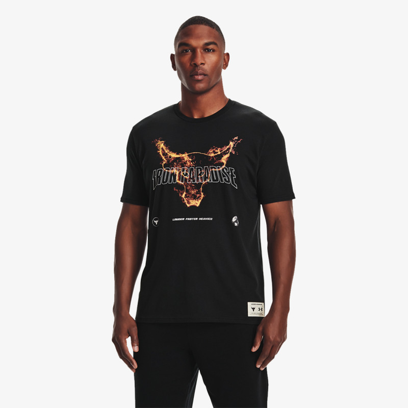 UNDER ARMOUR Tricou UA Project Rock Fire SS