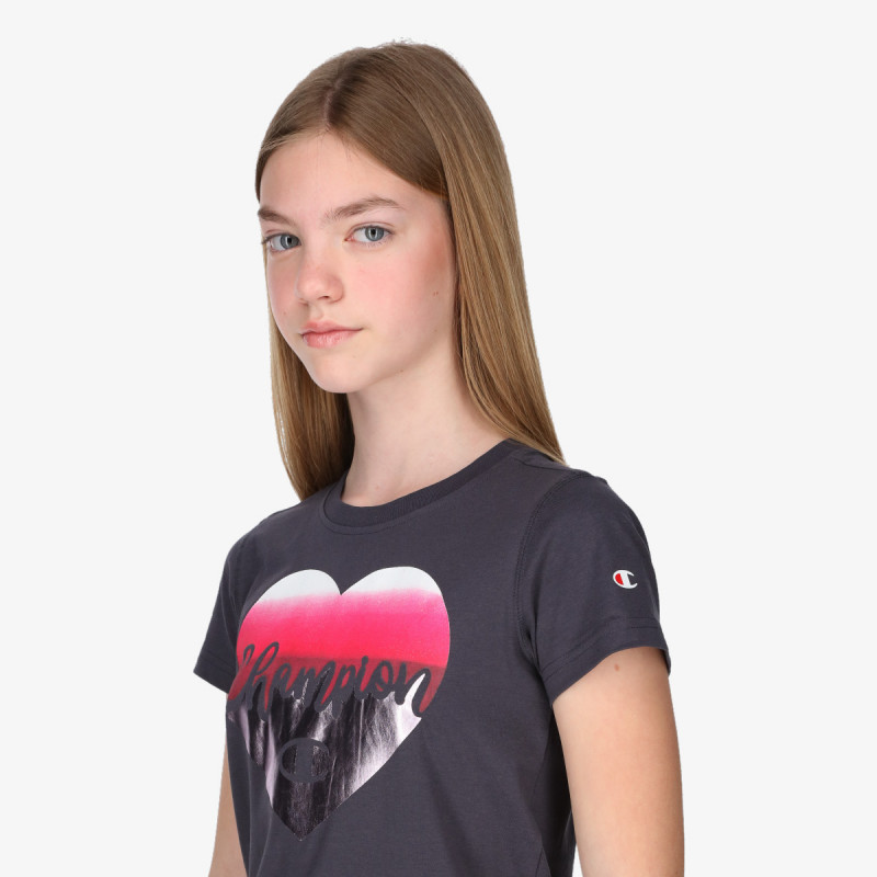 CHAMPION Tricou GIRLS HEART T-SHIRT
