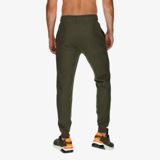 CHAMPION Pantaloni de trening RUBBER LOGO RIB CUFF PANTS
