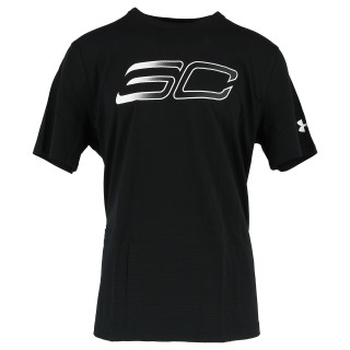 UNDER ARMOUR Tricouri SC30 FADED LOGO TEE-BLK