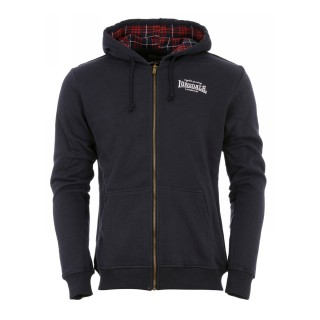 LONSDALE Hanorace cu fermoar FLEETHER MENS HOODED ZIPSWEAT NAVY