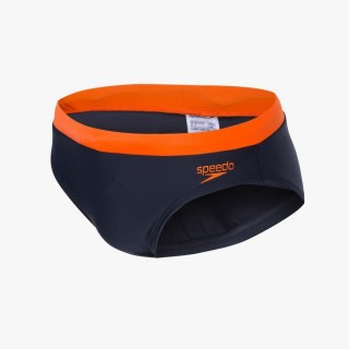 SPEEDO Slipuri M. KUPACE GACE ESS LOGO 7CM BRF AM NAVY/ORANGE