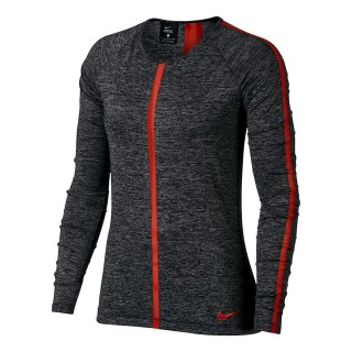 NIKE Tricouri maneca lunga W NP HPRCL TOP LS HEATHER