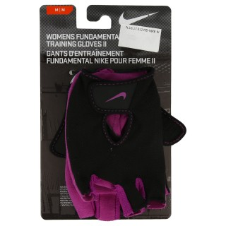 NIKE Manusi antrenament NIKE WMN S FUNDAMENTAL TRAINING GLOVES II M BLACK/BOLD BERRY
