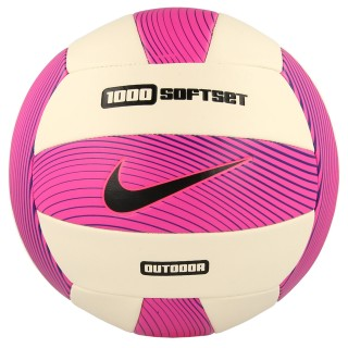 NIKE Mingi NIKE 1000 SOFTSET OUTDOOR VOLLEYBALL DEFLATED HYPER PINK/WHITE/HYPER GRAPE/BLACK