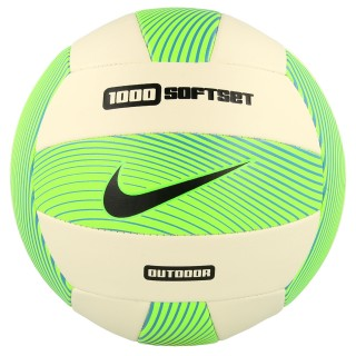 NIKE Mingi NIKE 1000 SOFTSET OUTDOOR VOLLEYBALL DEFLATED ELECTRIC GREEN/WHITE/GAMMA BLUE/BLACK