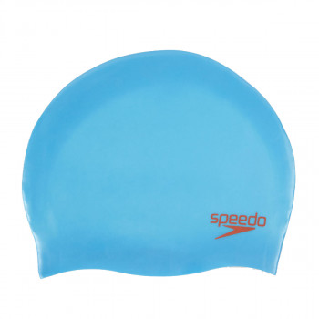 SPEEDO Casti inot PLAIN MOULDED SILC CAP JU BLUE/RED