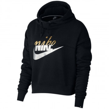 NIKE Hanorace W NSW RALLY HOODIE METALLIC