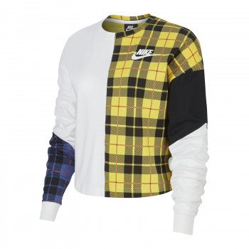 NIKE Bluze W NSW TOP LS PLAID