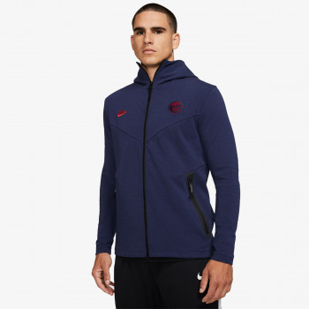 NIKE Hanorace PSG M NSW TCH PCK HOODIE FZ CL