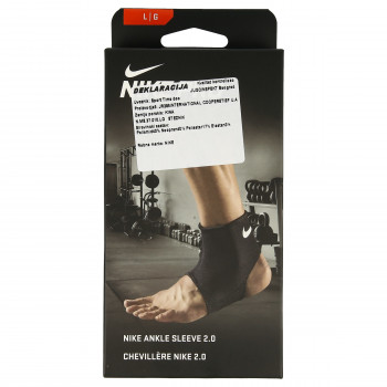 JR NIKE Bretele NIKE PRO ANKLE SLEEVE 2.0 L BLACK/WHITE