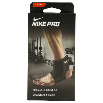JR NIKE Bretele NIKE PRO ANKLE SLEEVE 2.0 M BLACK/WHITE