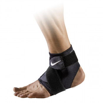 JR NIKE Bretele NIKE PRO ANKLE WRAP 2.0 M BLACK/WHITE