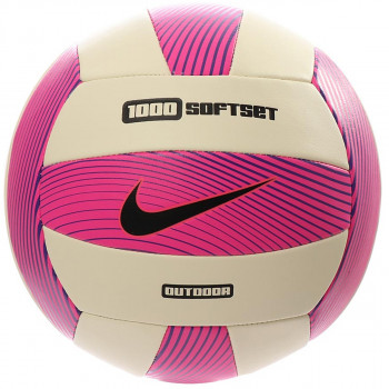 NIKE Mingi NIKE 1000 SOFTSET OUTDOOR VOLLEYBALL INFLATED WITH BOX HYPER PINK/WHITE/HYPER GRAPE/BLACK