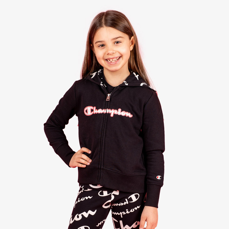 CHAMPION Hanorac GIRLS ALL OVER FULL ZIP HOODY